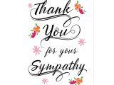 Thank You Sympathy Card Wording Thank You for the Sympathy Postcard Zazzle Com Sympathy