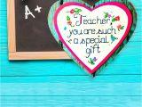 Thank You Teacher Card From Parents Teacher Gift Ideas Heart Magnet Teacher Appreciation Gift