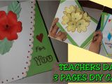 Thank You Teacher Diy Card 3 Pages Teacher S Day Card 2019 Easy Diy Colored Paper Pop Up Card Appreciation Greeting Card