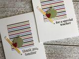 Thank You Teacher Diy Card Papertrey Ink Keep It Simple Teacher Stamps Teacher Stamps