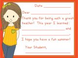 Thank You Teacher Diy Card Teacher Fill In the Blanks End Of Year Thank You Card Home