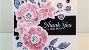 Thank You Very Much Card Falling Flowers Thank You so Very Much with Images