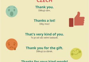 Thank You Very Much Card How to Say Thank You In Czech Czechclass101