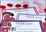Thank You Very Much for the Gift Card Valentine Thank You Notes Editable with Images Teacher