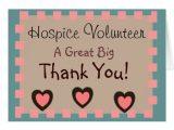 Thank You Volunteer Card Wording Hospice Volunteer Thank You Cards