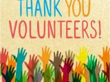Thank You Volunteer Card Wording Thank You for Volunteering Quotes