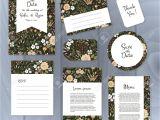 Thank You Wedding Card Template Vector Gentle Wedding Cards Template with Flower Design Wedding
