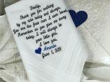 Thank You Wedding Card to Parents Dad Wedding Handkerchief Father Of Bride Wedding