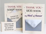 Thank You Wedding Card to Parents Maid Of Honour Thank You Secret Messages Card Message Card