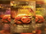 Thanksgiving Dinner Flyer Template Free Thanksgiving Dinner Flyer Flyer Templates Creative Market