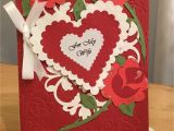 The Rock Valentine S Day Card Valentine Card Made with Anna Griffin Rosa Embossing