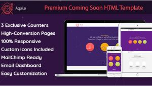 Themeforest Email Templates Nulled Aquila Premium Coming soon HTML Template Mailchimp