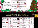 Things to Write In A Christmas Card Christmas Vocabulary Word Cards Chevron Vocabulary Words
