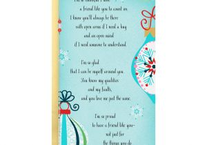 Things to Write In A Farewell Card for A Friend Between You and Me Thankful for You Christmas Card for Friend