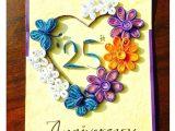 Things to Write In An Anniversary Card Bonitahub Multicolour Happy 25th Anniversary Card Buy