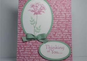 Thinking Of You Diy Card Avant Garden Flower Cards Stamping Up Cards