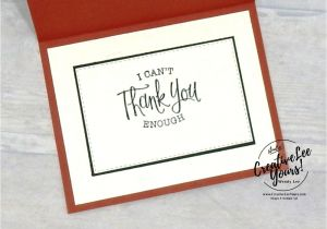 Thinking Of You Diy Card Masculine Thank You by Wendy Lee Tutorial Stampin Up Su