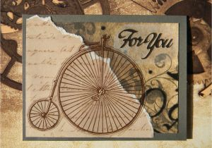 Thinking Of You Diy Card Old Time Bicycle Card for You Birthday Thinking Of You