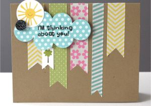Thinking Of You Diy Card Simple Thinking Of You Card with Washi Tape Washi Tape