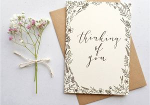 Thinking Of You Diy Card Thinking Of You Modern Calligraphy Card Calligraphy Cards