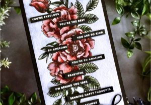 Thinking Of You Diy Card Tiny Words Beautiful Flowers for the Simon Says Stamp