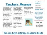 Third Grade Newsletter Template May Be too Similar to Last Year Digging the Simplicity Of
