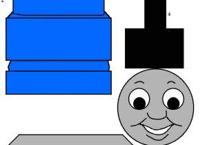 Thomas the Tank Engine Face Template Thomas and Friends Thomas the Tank Engine Paper Craft