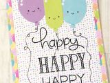 Thoughts for Teachers Day Card Birthday Card Lawn Fawn Happy Happy Happy Doodlebug