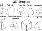 Three Dimensional Shapes Templates 3d Shapes for Kids Kidspot