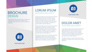 Three Fold Flyer Templates Free Free Tri Fold Brochure Vector Template Download Free