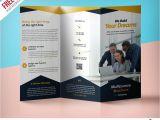 Three Fold Flyer Templates Free Professional Corporate Tri Fold Brochure Free Psd Template
