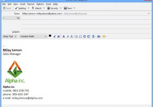 Thunderbird Email Signature Templates In Thunderbird Email Signatur Einrichten Mail Signatures