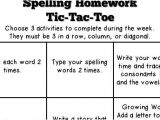 Tic Tac toe Homework Template Lucky In Learning Weekly Spelling Tic Tac toe