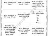 Tic Tac toe Homework Template Teacher Notebook Spelling and Spelling Homework On Pinterest