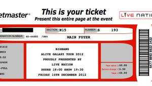 Ticketmaster Ticket Template 26 Cool Concert Ticket Template Examples for Your event