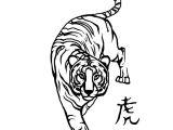 Tiger Tattoo Template Fire Tiger Tattoo Cliparts Co