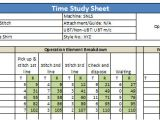 Time Studies Template How to Do Time Study for Garment Operations