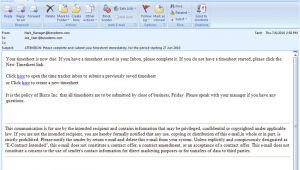 Timesheet Email Template Microsoft Timesheet Template Fotomixe