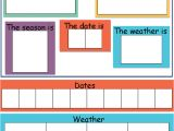 Today is Calendar Template today is Dates Weather Seasons Chart Mindingkids