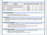 Top Fresher Resume format Best Resume format for Freshers Niveresume Resume