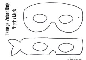 Tortoise Mask Template Ninja Masks Free Coloring Pages