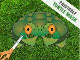 Tortoise Mask Template Turtle Mask tortoise Mask Party Mask Halloween by therasilisk