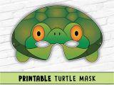 Tortoise Mask Template Turtle Mask tortoise Mask Party Mask Halloween Costume
