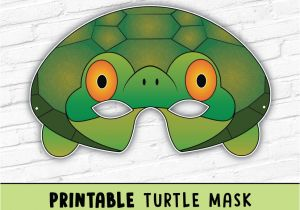 Tortoise Mask Template Turtle Mask tortoise Mask Party Mask Halloween Costume