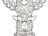 Totem Pole Design Template Printable totem Pole Coloring Pages Coloring Me