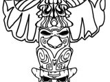 Totem Pole Design Template totem Pole Coloring Page Coloring Home