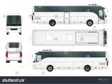 Tour Bus Design Template Vector Bus Template isolated On White Stock Vector