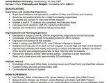 Tourism Student Resume Objectives James Madison University Resumes format