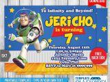 Toy Story Invites Templates Free Buzz Lightyear toy Story Birthday Invitation by