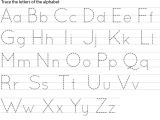 Traceable Alphabet Templates Free Printable Letter Name Tracing Sheets for Preschool